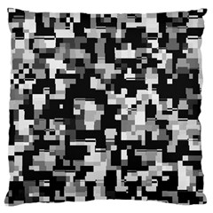 Background Noise In Black & White Large Flano Cushion Case (Two Sides)