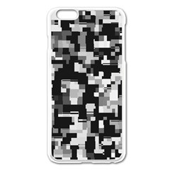Background Noise In Black & White Apple Iphone 6 Plus Enamel White Case