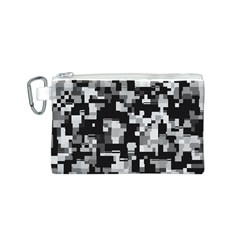 Background Noise In Black & White Canvas Cosmetic Bag (Small)