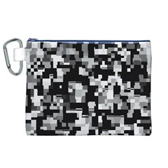 Background Noise In Black & White Canvas Cosmetic Bag (xl)