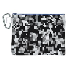 Background Noise In Black & White Canvas Cosmetic Bag (XXL)
