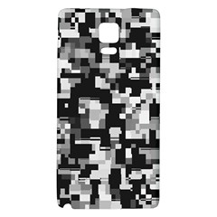 Background Noise In Black & White Samsung Note 4 Hardshell Back Case
