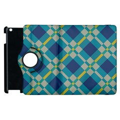 Squares And Stripes Pattern Apple Ipad 3/4 Flip 360 Case