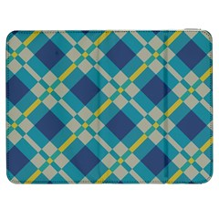 Squares and stripes pattern Samsung Galaxy Tab 7  P1000 Flip Case