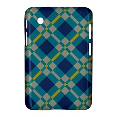 Squares And Stripes Pattern Samsung Galaxy Tab 2 (7 ) P3100 Hardshell Case
