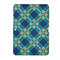 Squares and stripes pattern Samsung Galaxy Tab 2 (10.1 ) P5100 Hardshell Case