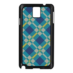 Squares And Stripes Pattern Samsung Galaxy Note 3 N9005 Case (black)