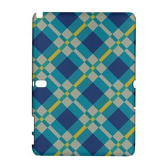 Squares and stripes pattern Samsung Galaxy Note 10.1 (P600) Hardshell Case