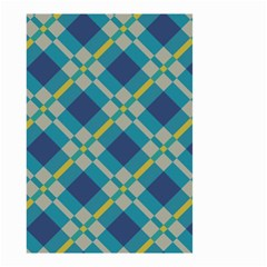 Squares And Stripes Pattern Small Garden Flag