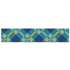 Squares and stripes pattern Flano Scarf