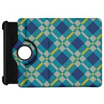 Squares and stripes pattern	Kindle Fire HD Flip 360 Case Front
