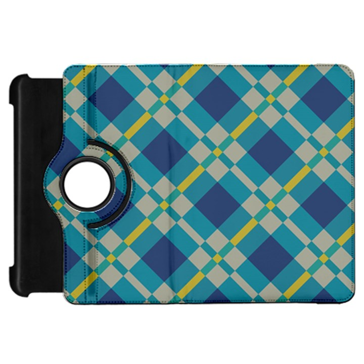 Squares and stripes pattern	Kindle Fire HD Flip 360 Case