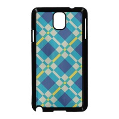 Squares and stripes pattern Samsung Galaxy Note 3 Neo Hardshell Case