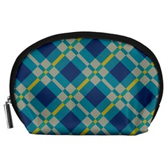 Squares and stripes pattern Accessory Pouch