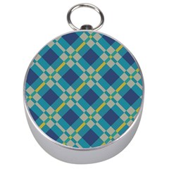 Squares and stripes pattern Silver Compass
