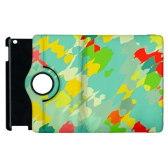 Smudged shapes Apple iPad 3/4 Flip 360 Case