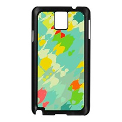 Smudged Shapes Samsung Galaxy Note 3 N9005 Case (black)