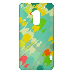 Smudged shapes HTC One Max (T6) Hardshell Case