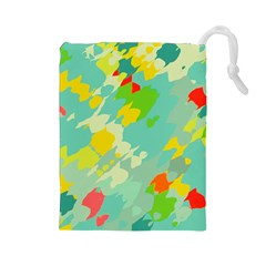 Smudged shapes Drawstring Pouch