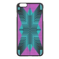 Tribal purple rhombus Apple iPhone 6 Plus Black Enamel Case