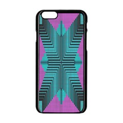 Tribal purple rhombus Apple iPhone 6 Black Enamel Case