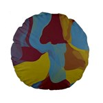Watercolors Standard 15  Premium Round Cushion  Back