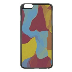 Watercolors Apple iPhone 6 Plus Black Enamel Case
