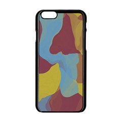 Watercolors Apple iPhone 6 Black Enamel Case