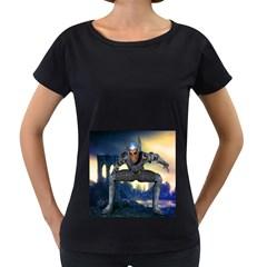 Wasteland Women s Loose-Fit T-Shirt (Black)