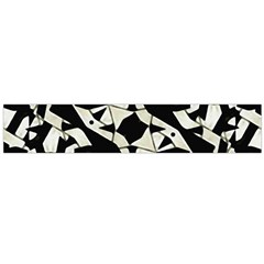 Black And White Print Flano Scarf (large)