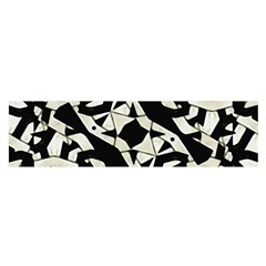 Black and White Print Satin Scarf (Oblong)