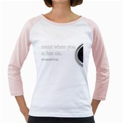 Turn On Women s Long Cap Sleeve T-Shirt (White)