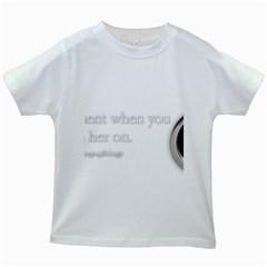 Turn On Kids T-shirt (White)