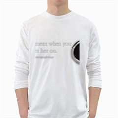 Turn On Men s Long Sleeve T-shirt (White)
