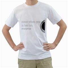 Turn On Men s T Shirt (white)