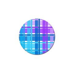 Blue & Purple Gingham Plaid Golf Ball Marker 4 Pack
