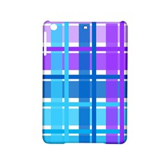Blue & Purple Gingham Plaid Apple Ipad Mini 2 Hardshell Case