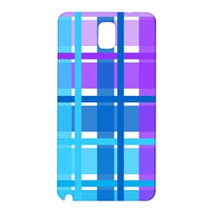 Blue & Purple Gingham Plaid Samsung Galaxy Note 3 N9005 Hardshell Back Case