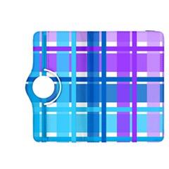 Blue & Purple Gingham Plaid Kindle Fire HDX 8.9  Flip 360 Case