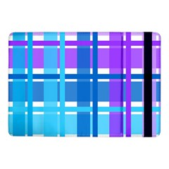 Blue & Purple Gingham Plaid Samsung Galaxy Tab Pro 10.1  Flip Case