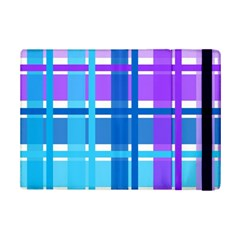 Blue & Purple Gingham Plaid Apple iPad Mini 2 Flip Case