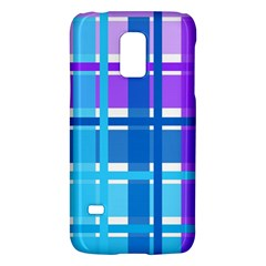 Blue & Purple Gingham Plaid Samsung Galaxy S5 Mini Hardshell Case