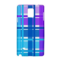 Blue & Purple Gingham Plaid Samsung Galaxy Note 4 Hardshell Case