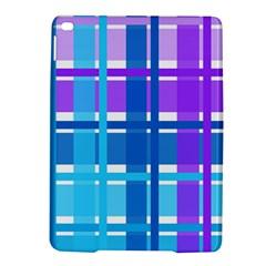 Blue & Purple Gingham Plaid Apple iPad Air 2 Hardshell Case