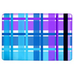 Blue & Purple Gingham Plaid Apple iPad Air 2 Flip Case