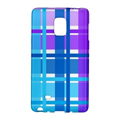 Blue & Purple Gingham Plaid Samsung Galaxy Note Edge Hardshell Case