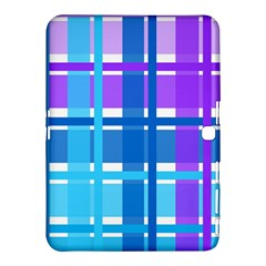 Blue & Purple Gingham Plaid Samsung Galaxy Tab 4 (10.1 ) Hardshell Case