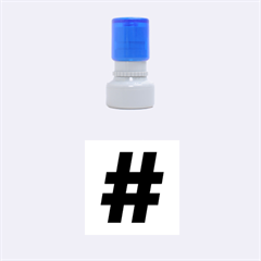 Hashtag rubber stamp (small)