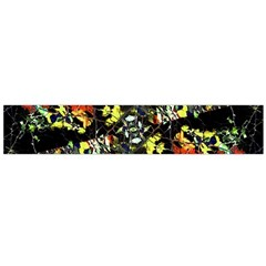 Floral Collage Print Flano Scarf (Large)