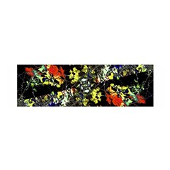 Floral Collage Print Satin Scarf (Oblong)